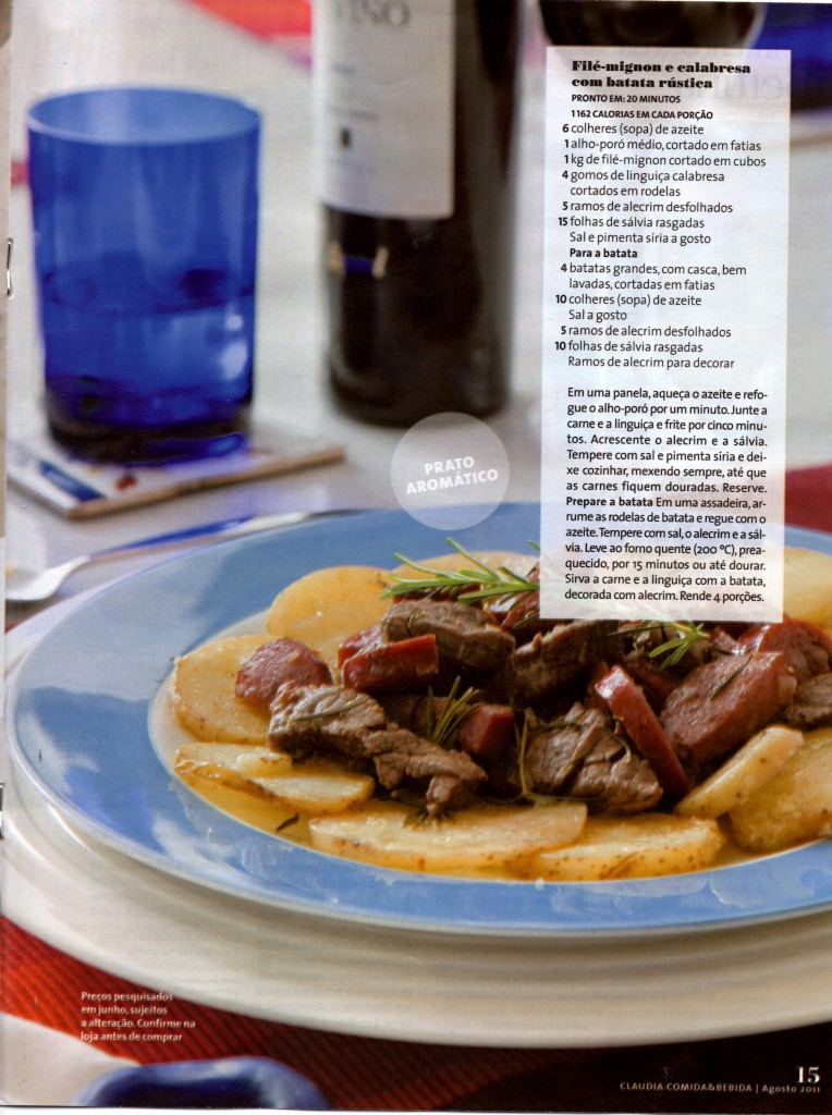 Revista Cláudia 4 764x1024 - Filé Mignon assado com Batatas