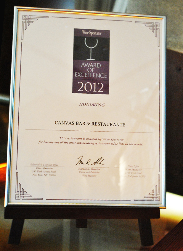 Wine Spectator - Canvas Bar & Restaurante - Hilton Morumbi
