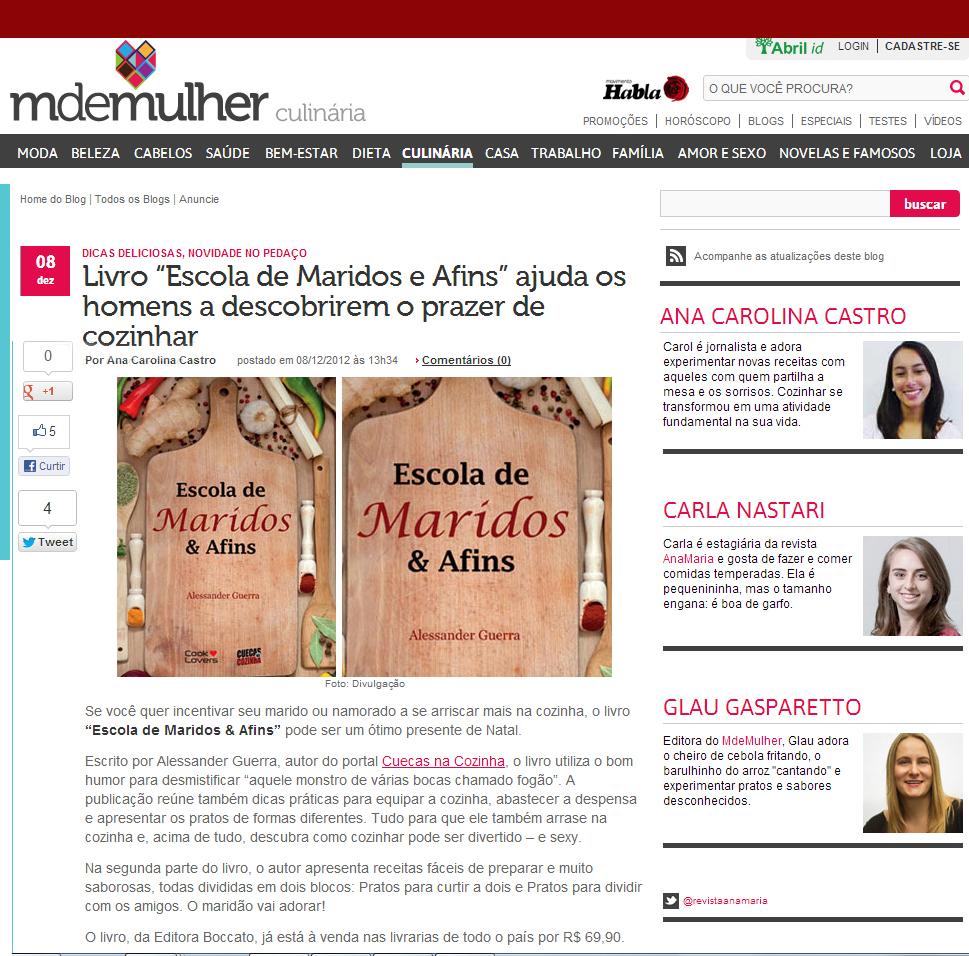 Escola de Maridos Afins M de Mulher - Livro Escola de Maridos & Afins no M de Mulher