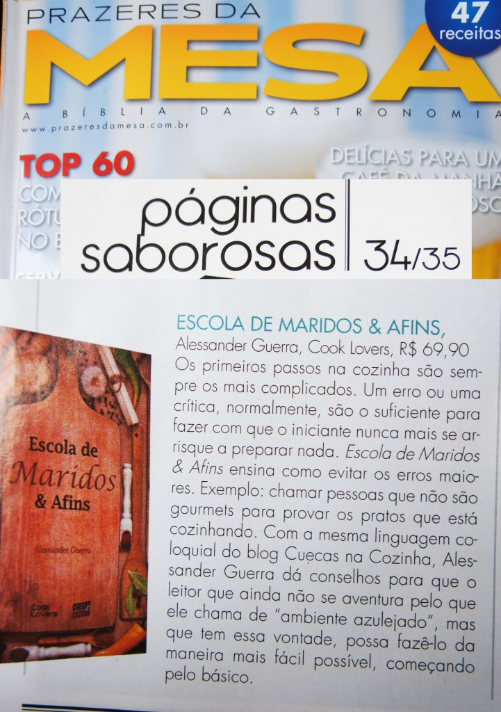 Prazeres da Mesa 721x1024 - Livro Escola de Maridos & Afins na Prazeres da Mesa