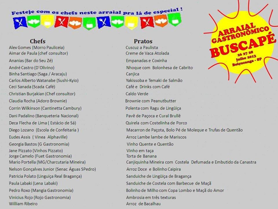 1017328 10201632311191895 54940328 n 1 - Arraial Gastronômico do Projeto Buscapé