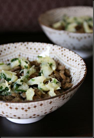 Lentilhas com lascas de bacalhau - Receita diferente com Lentilhas