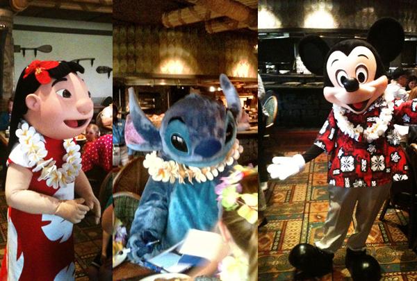 Ohana Personagens - Ohana restaurante Disney