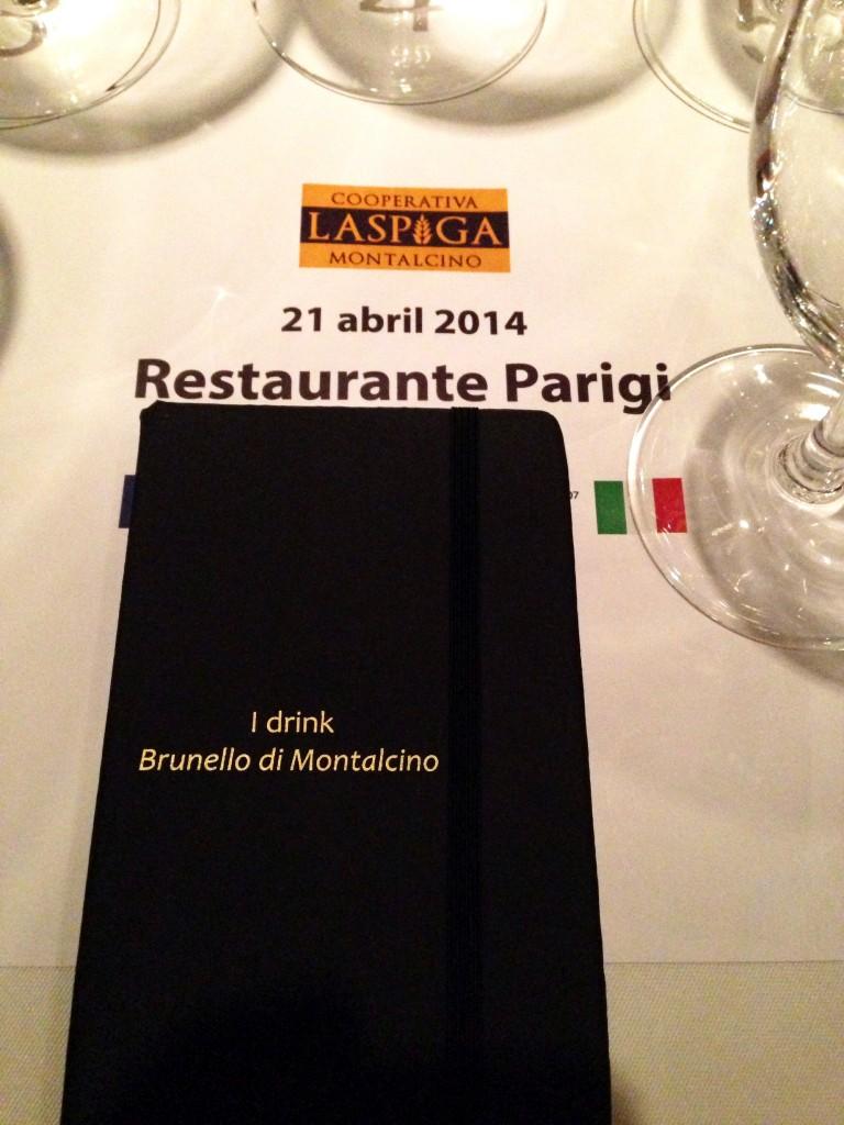 Brunello di Montalcino Alessander Guerra Cuecas na Cozinha La Spiga Parigi 768x1024 - Degustação de Brunello di Montalcino