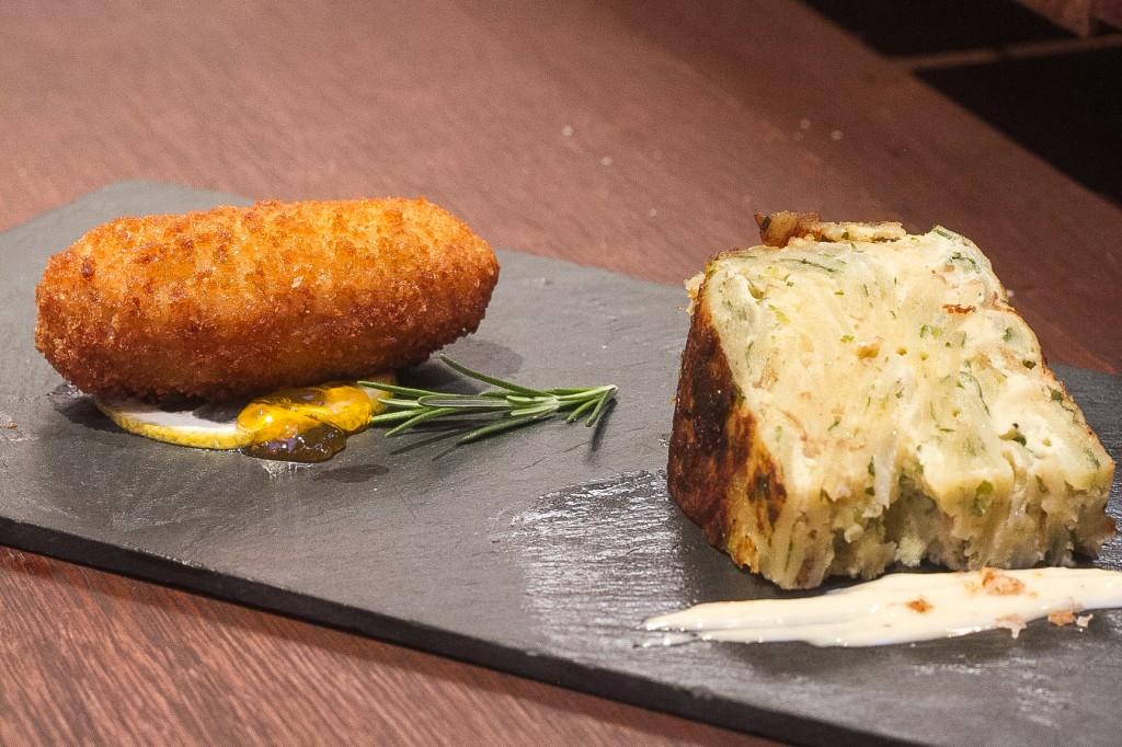 Tortilhas de batata com creme cheese e Croqueta de Ramo¦ün Torero 1024x682 - Tapas Week