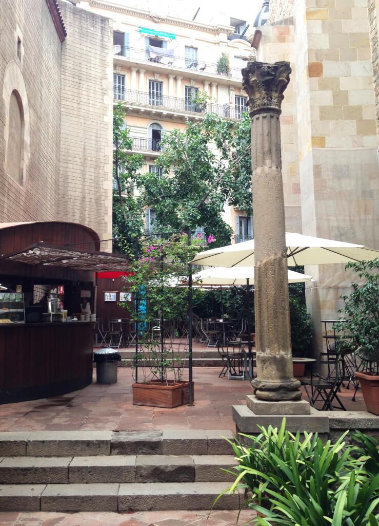 Café D´Estiu do Museu Frederic Marès Barcelona foto Cuecas na Cozinha 739x1024 - Onde Comer em Barcelona