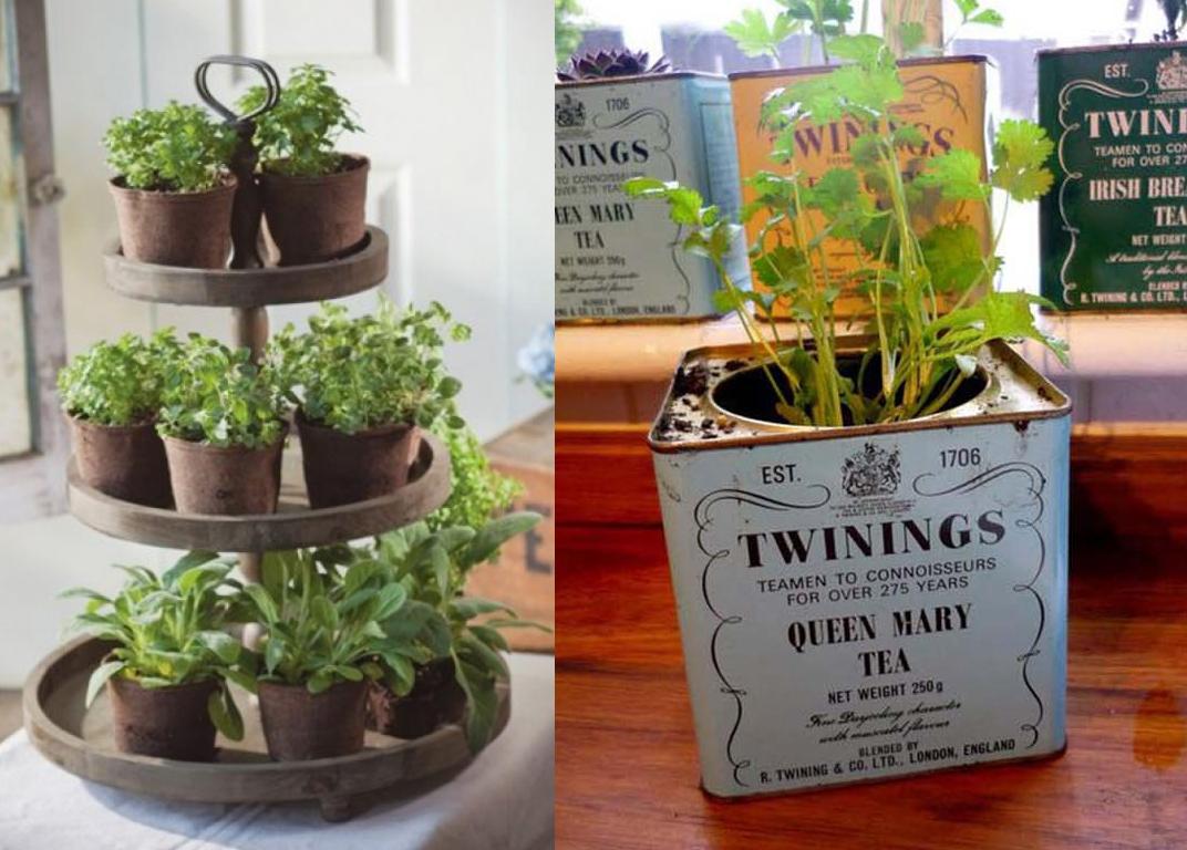 Horta Em Casa Boas Ideias Com Toque Especial Na Decora O ~ Horta De Temperos Na Cozinha