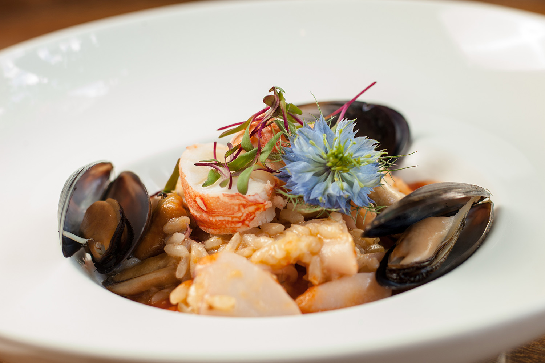Organic Food Fest _risotto di aragoste e frutti di mare_vinheria percussi_creditos Luis Simione
