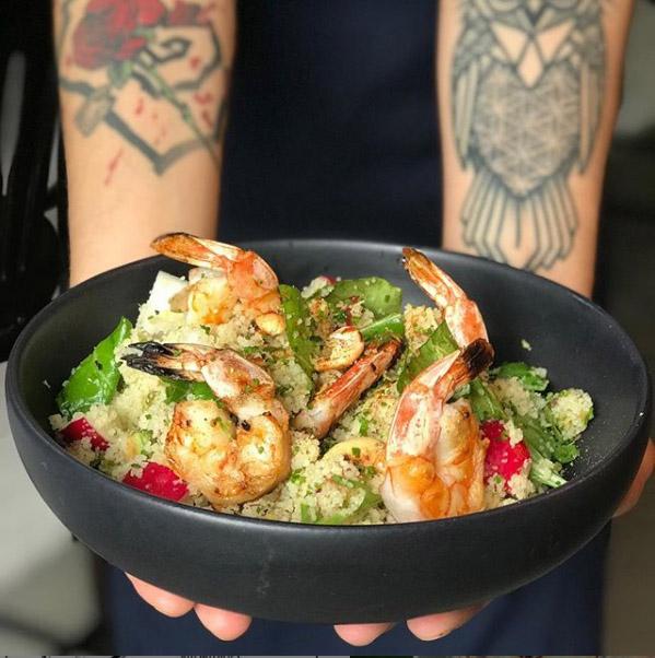Kith Restaurante _Couscous marroquino, com legumes e camarão da brasa